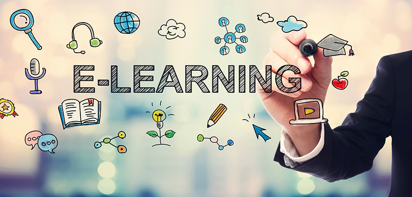 eLearning concept portrayed through graphic