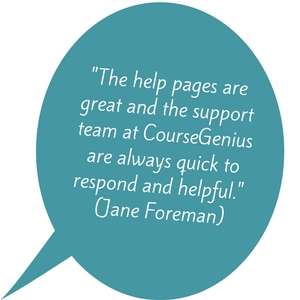 CourseGenius best customer support review