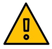 Warning sign for key points in online compliance training