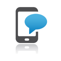 Mobile with speech bubble in online compliance training