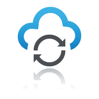 Two arrows within a cloud icon for create online courses