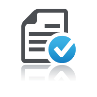 Document with blue tick for building an online course with an assessment