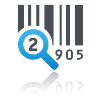 Barcode with blue magnifying glass for selling online courses from your own website