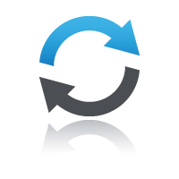 Two arrows icon for start and resume online courses